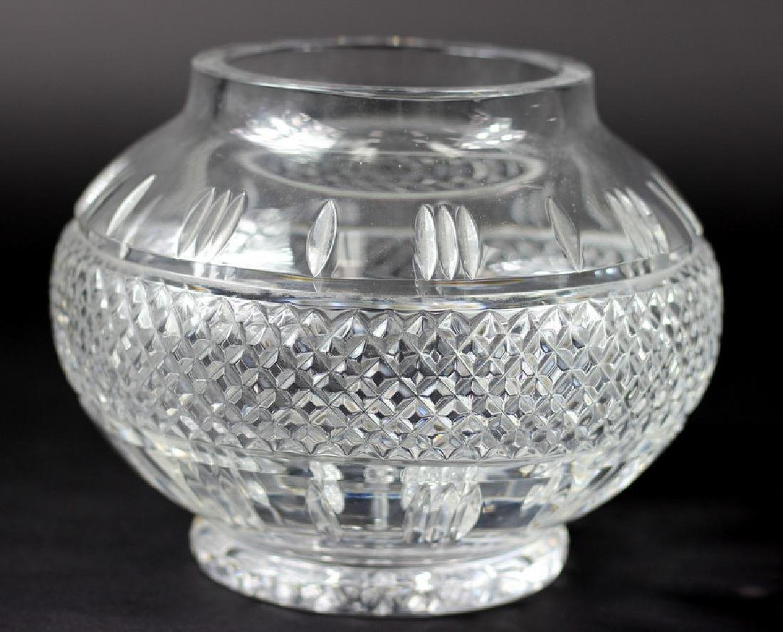 Waterford Style Cut Crystal Center Vase - 2