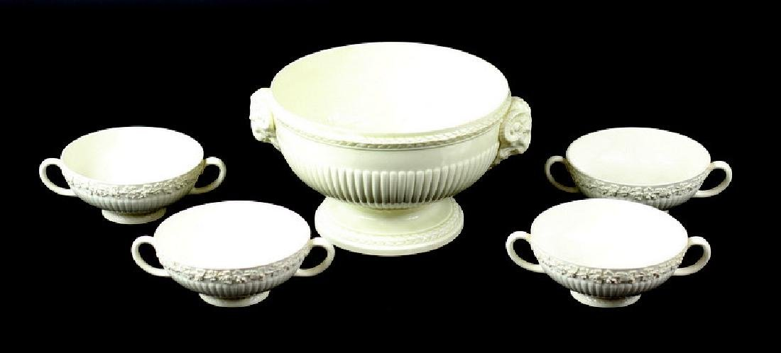 5pc Wedgwood Queensware Service Bowls