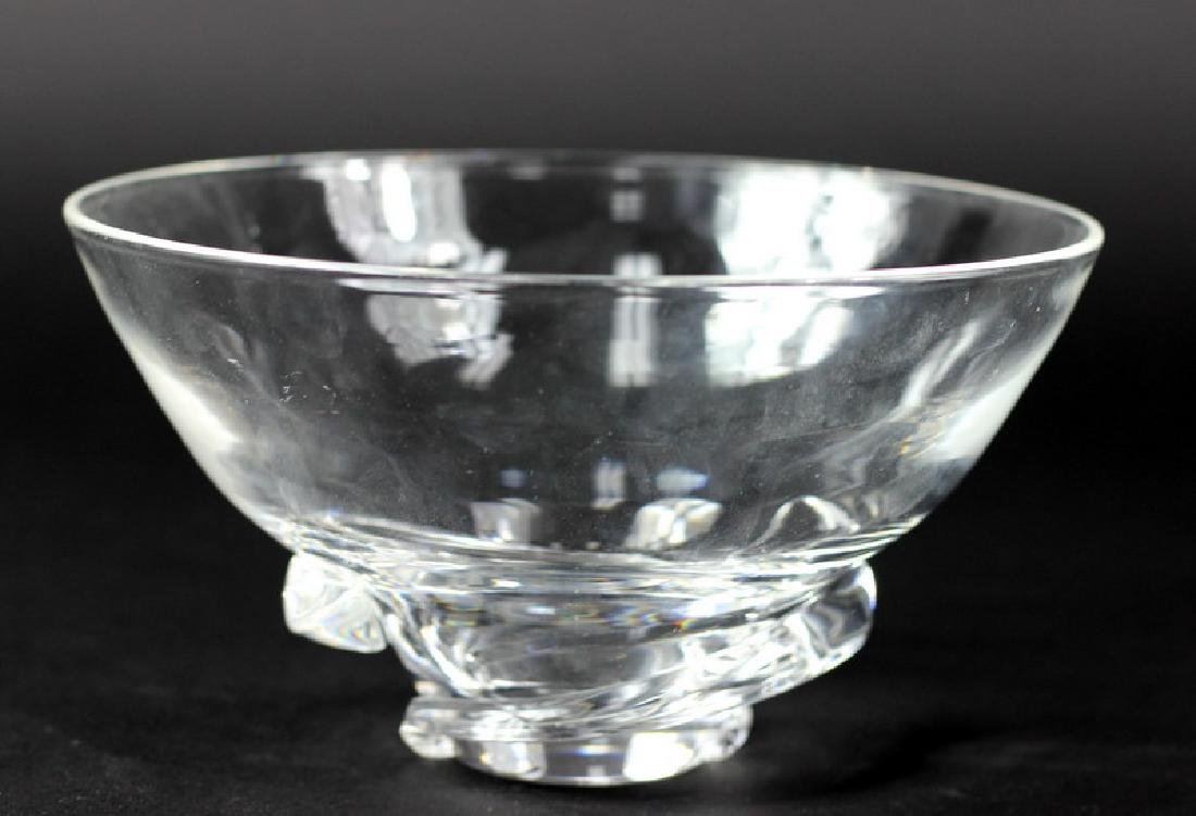 Stueben Clear Crystal Compote Bowl