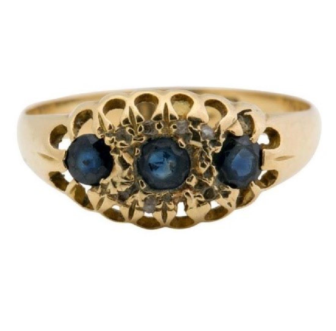 Antique (probably Victorian) Sapphire Ring.