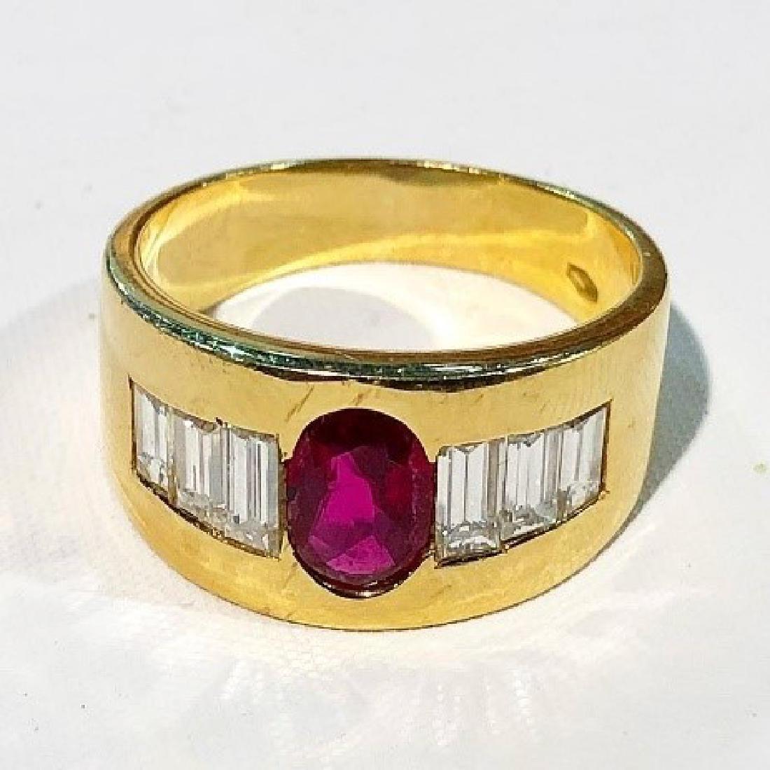 Estate Vintage Ruby & Diamond Ring