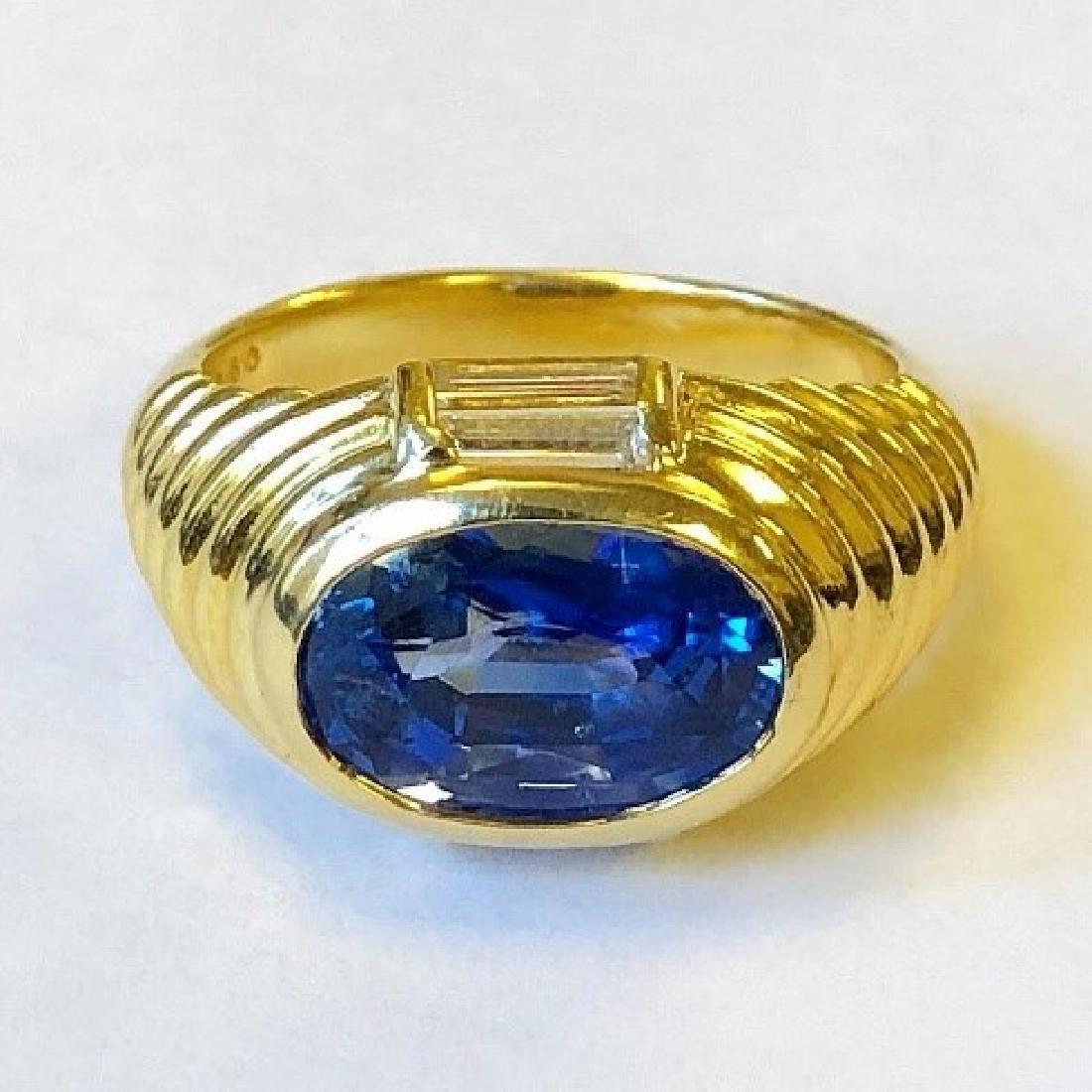 AGL certified No Heat Ceylon Sapphire Ring.