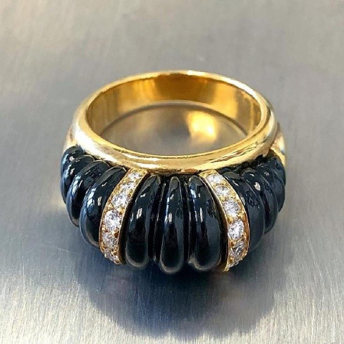 Carvin French Carved Onyx Ring.