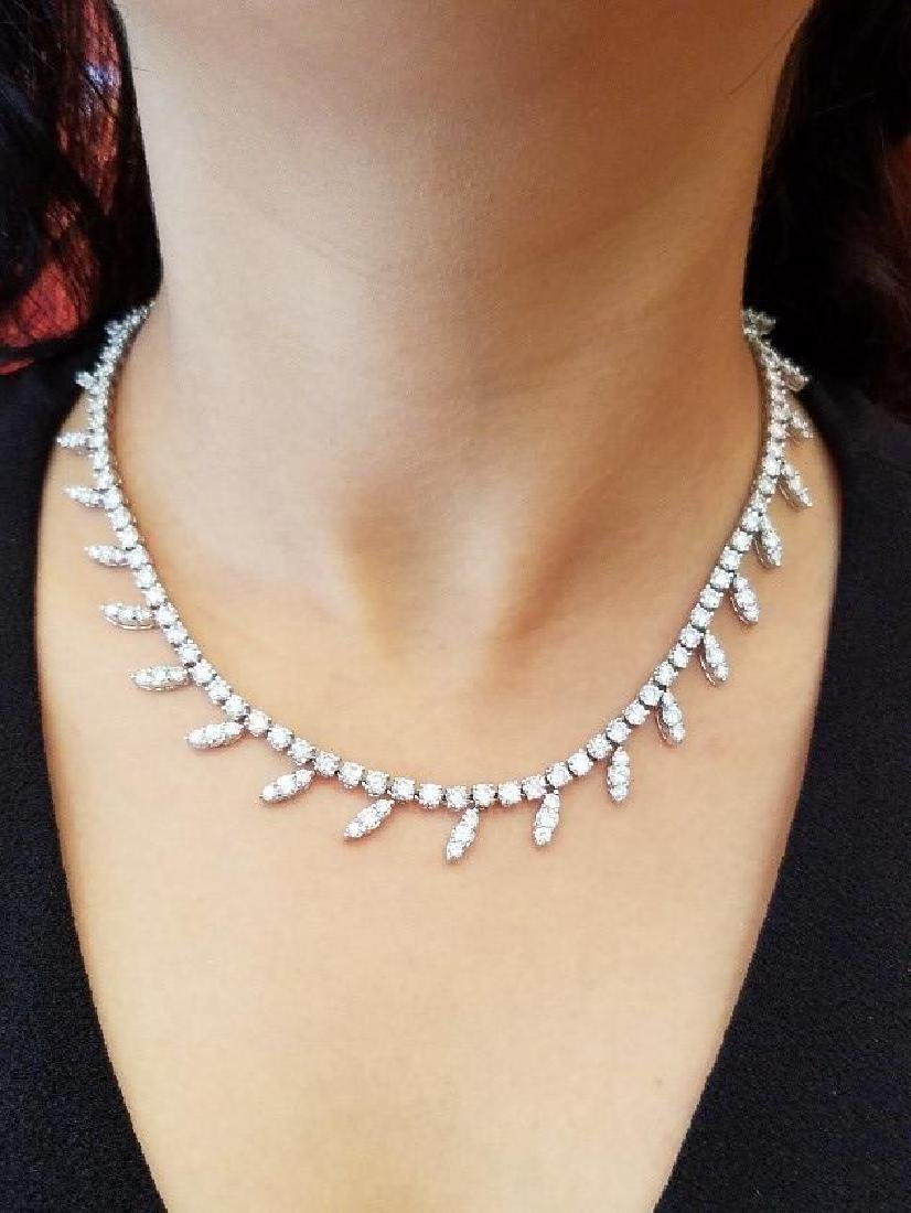 Carvin French 18.90 Carat Diamond Necklace.