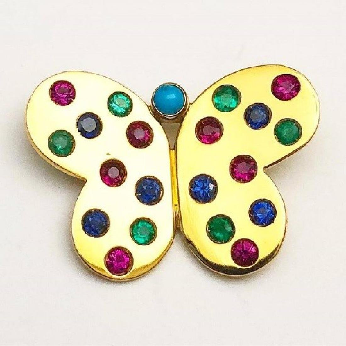 Carvin French Butterfly Brooch