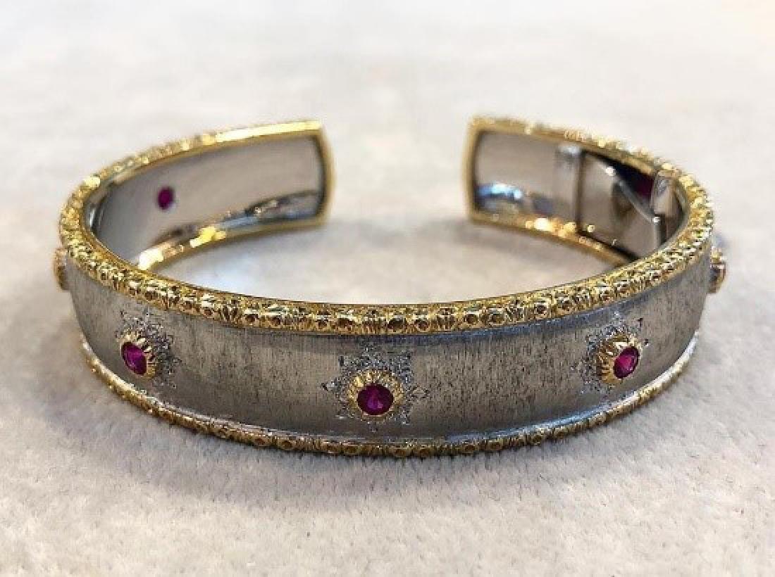 Mario Buccellati Vintage 18K Ruby Bracelet.
