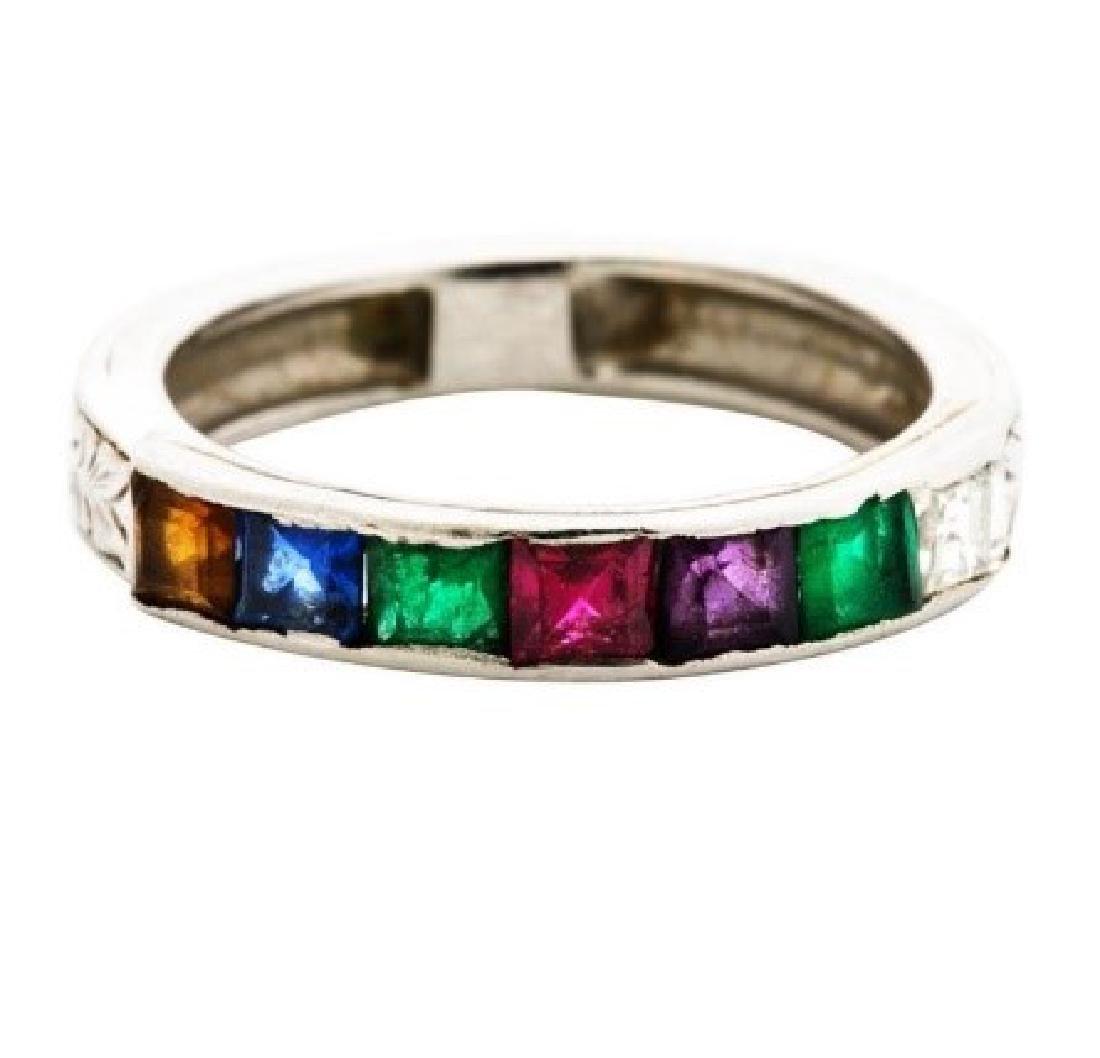 Art Deco platinum filigree ''DEAREST'' ring
