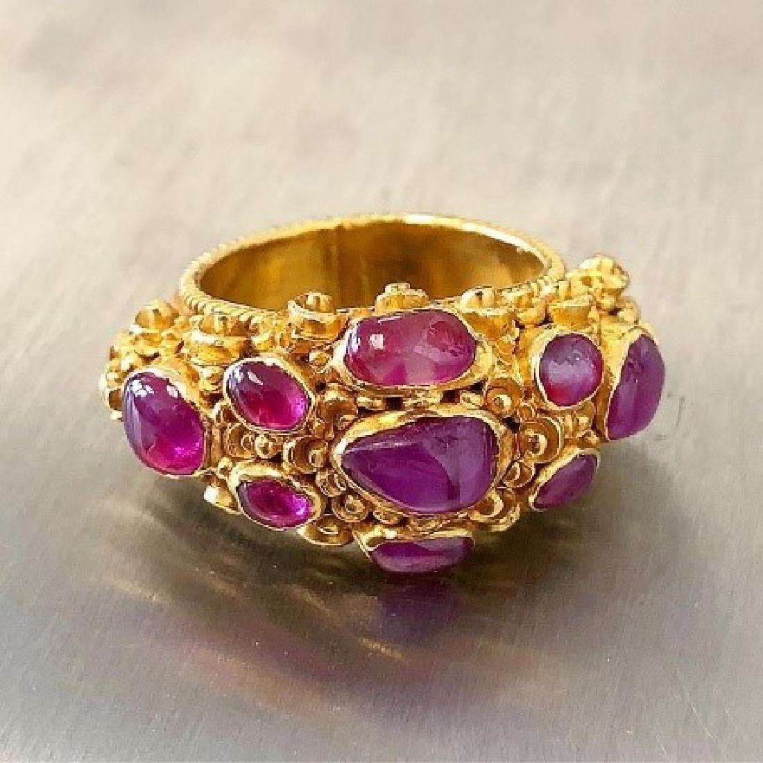 Antique 22 Karat Gold Ruby Ring.