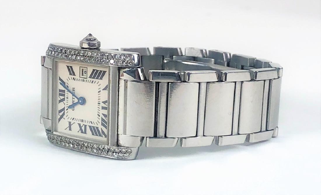 Ladies Cartier Tank Francaise Wrist Watch - 3
