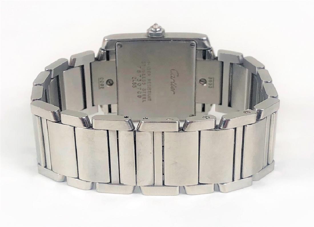Ladies Cartier Tank Francaise Wrist Watch - 4