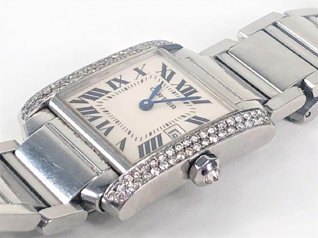 Ladies Cartier Tank Francaise Wrist Watch - 7