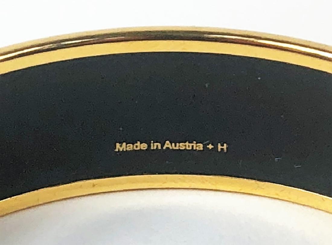 Two Hermes Paris Enamel Painted Bangle Bracelets - 6