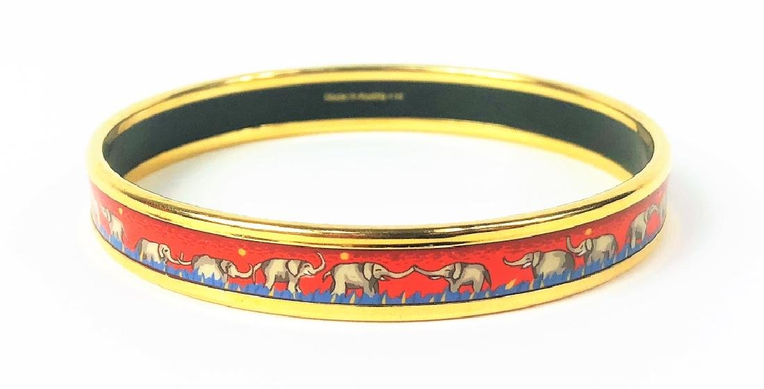 Two Hermes Paris Enamel Painted Bangle Bracelets - 8