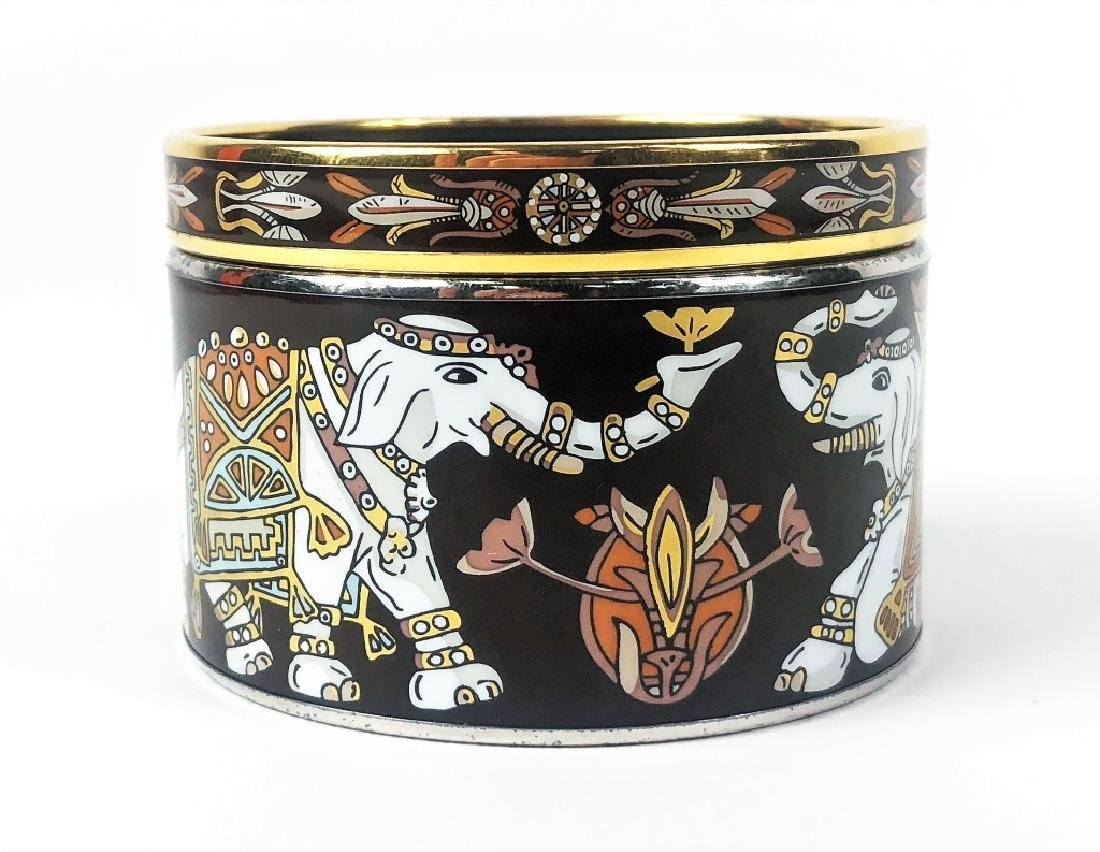 Two Hermes Paris Enamel Painted Bangle Bracelets - 2