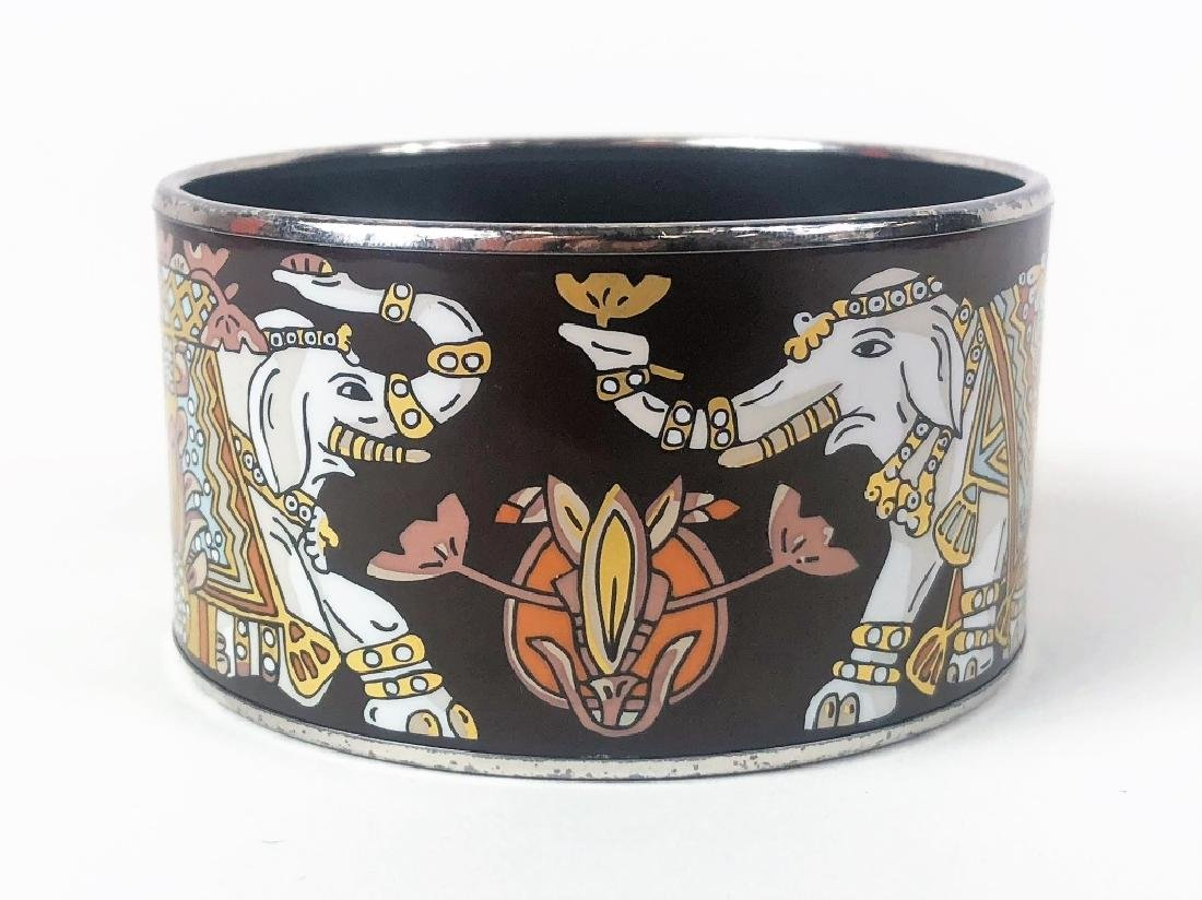 Two Hermes Paris Enamel Painted Bangle Bracelets - 3
