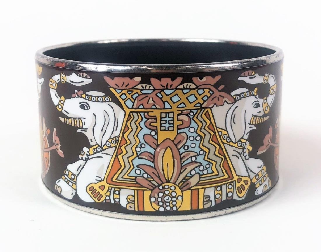 Two Hermes Paris Enamel Painted Bangle Bracelets - 4
