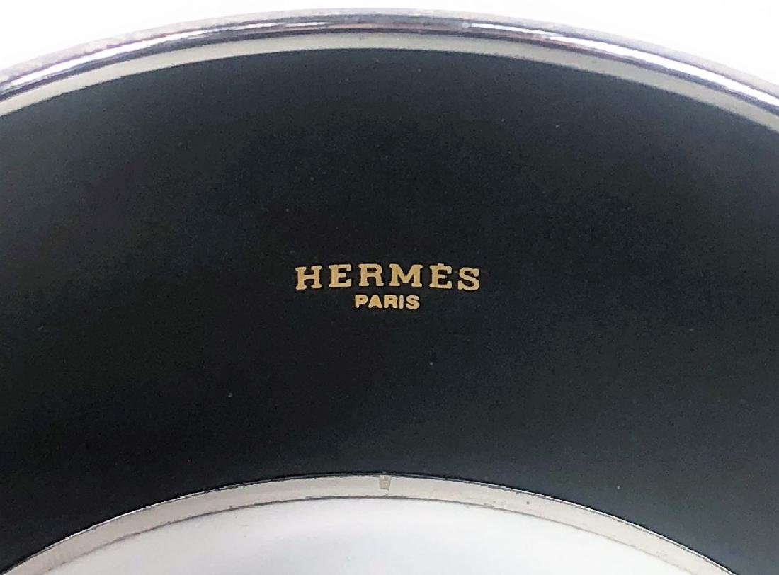 Two Hermes Paris Enamel Painted Bangle Bracelets - 5