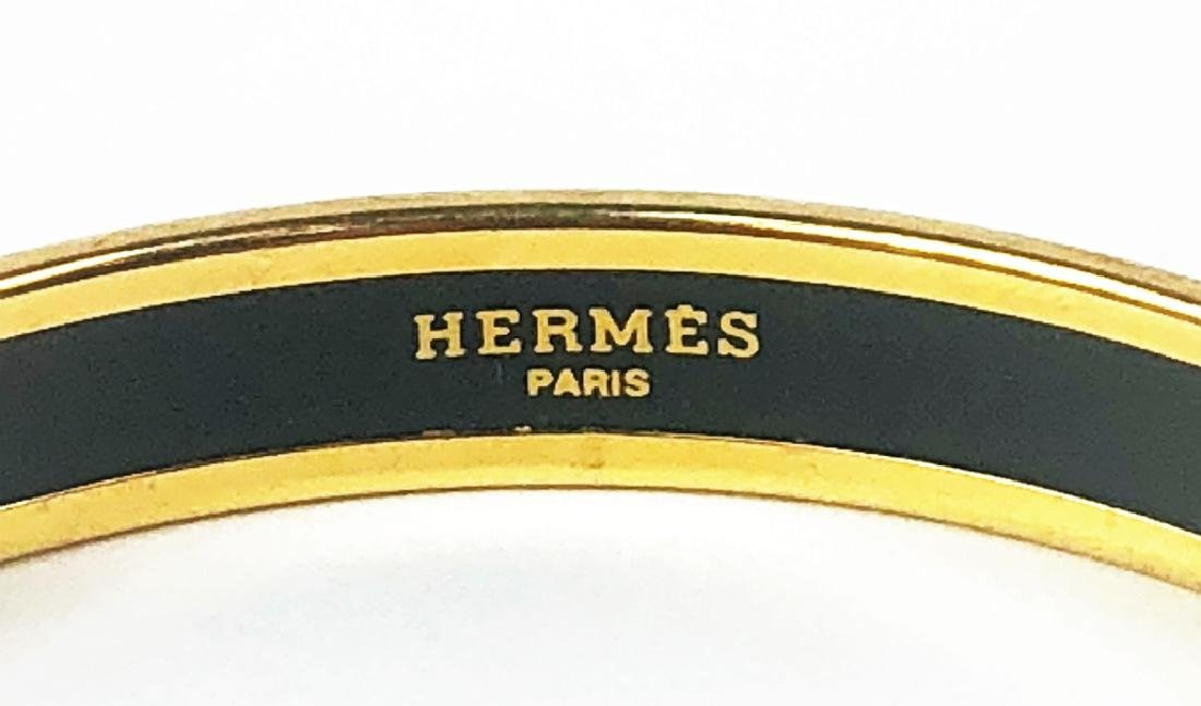 Two Hermes Paris Enamel Painted Bangle Bracelets - 9