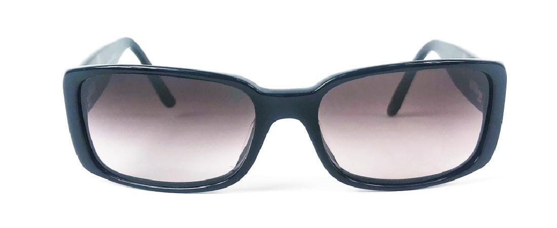 Chanel 5115-Q Black/Chrome CC Logo Sunglasses - 2