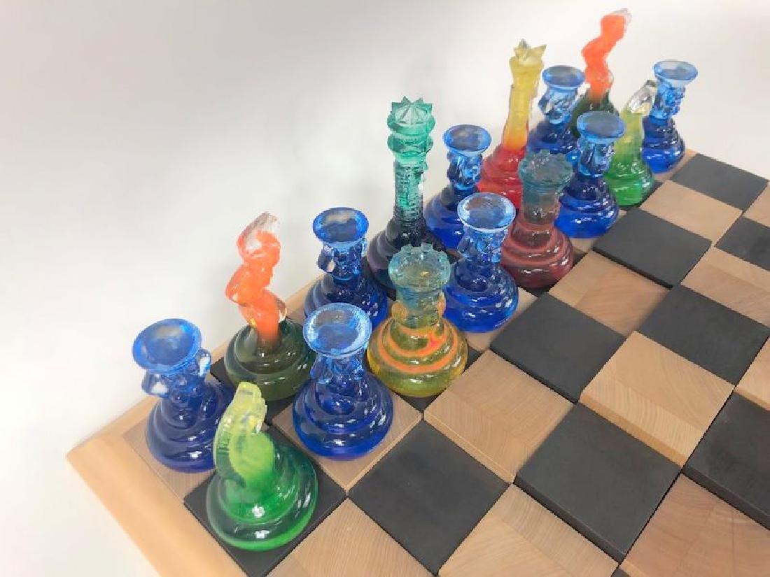 Rare Kosta Boda Blown Art Glass Designer Chess Set - 4