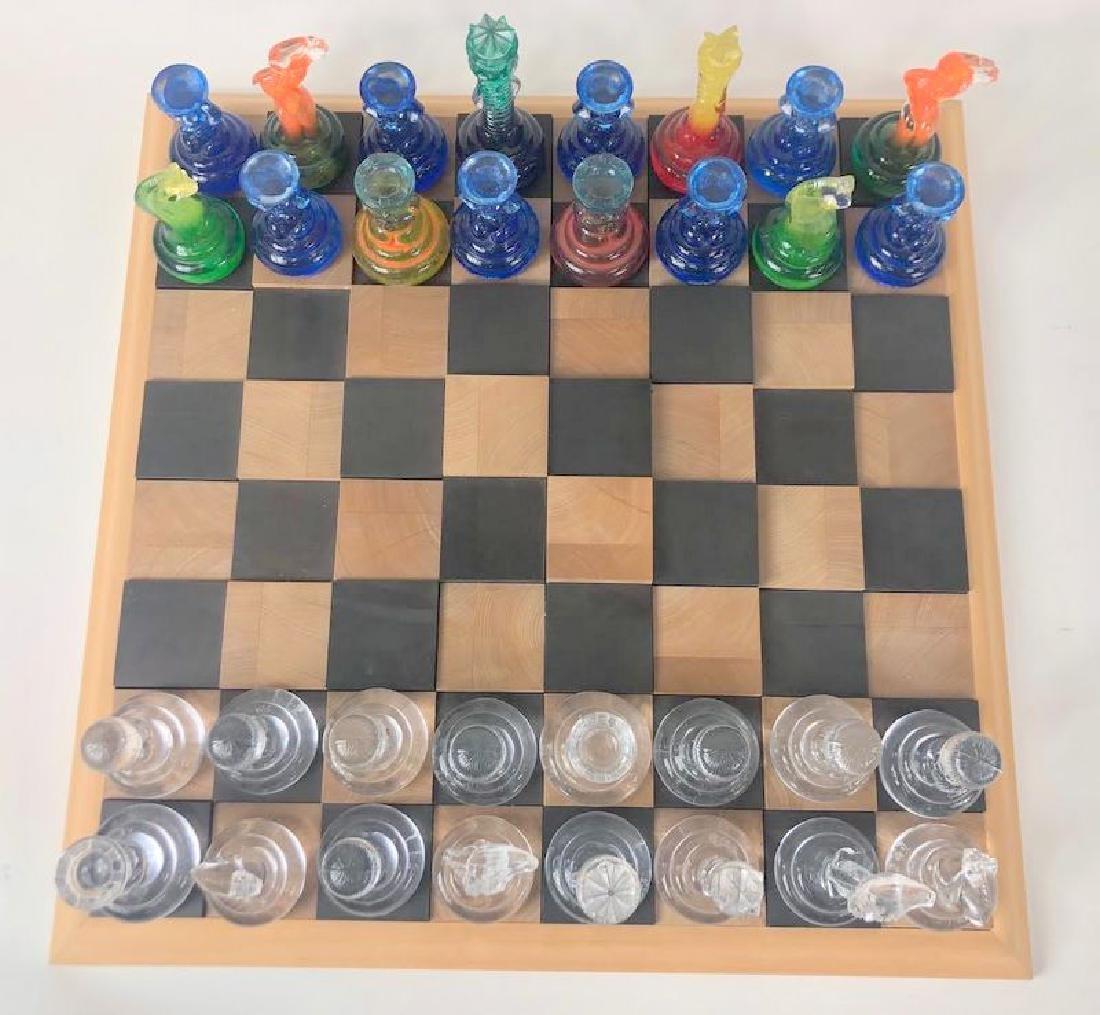 Rare Kosta Boda Blown Art Glass Designer Chess Set - 5