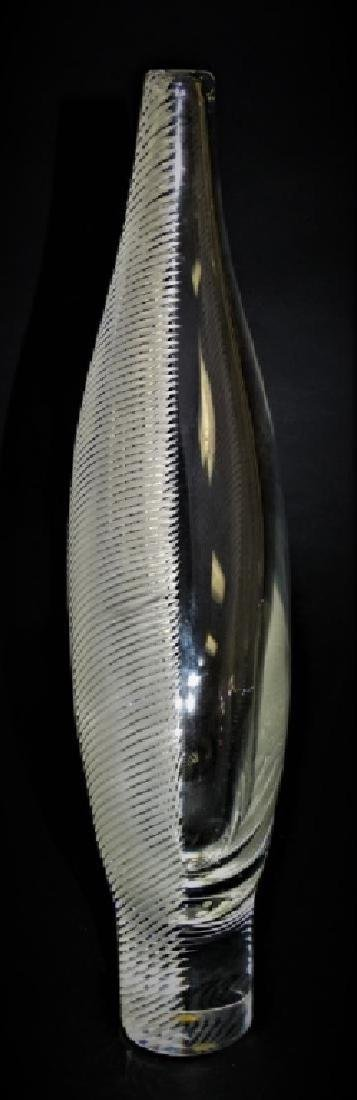 Contemporary Steuben Ribbed Leaf Glass Vase In Box - 2
