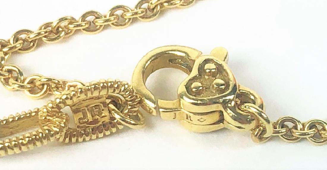 Judith Ripka 18K YG Diamond Citrine Heart Necklace - 4