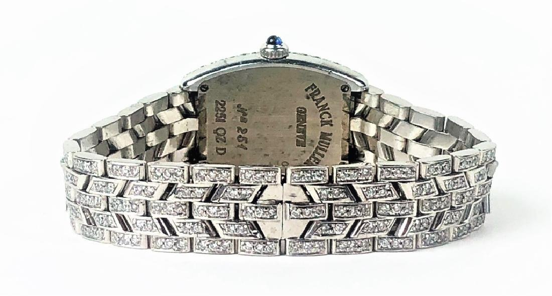 Frank Muller 18K Gold Diamond Cintree Curvex Watch - 4