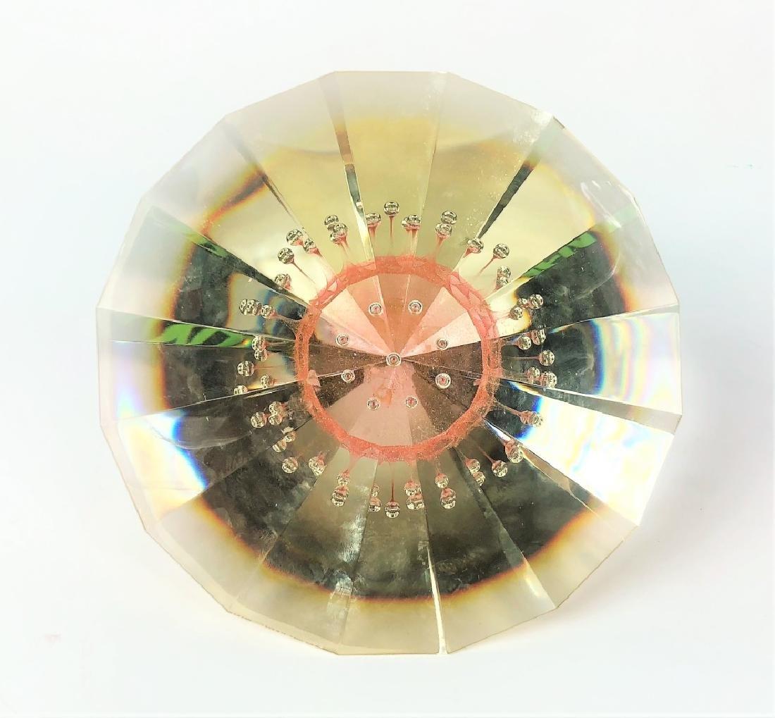 "Signed Jan Stohanzl ""Stargate"" Art Glass Prism - 2"