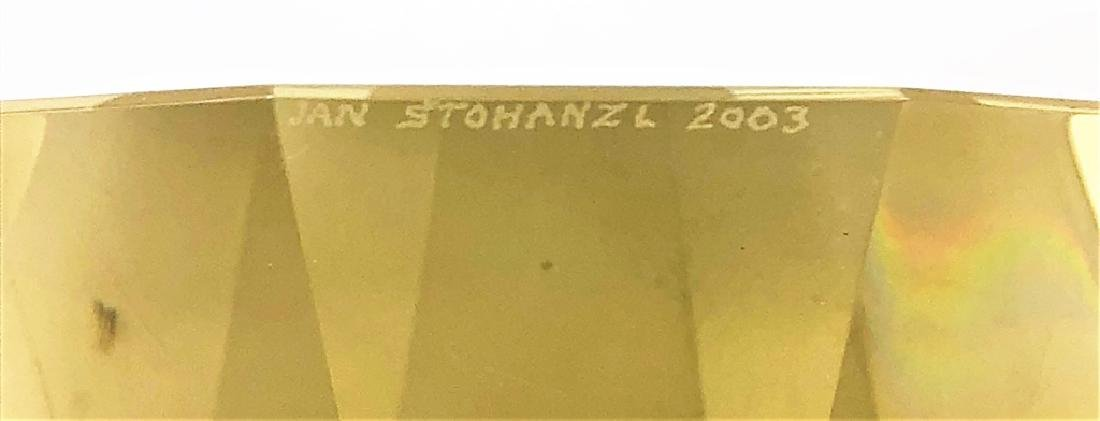"Signed Jan Stohanzl ""Stargate"" Art Glass Prism - 3"