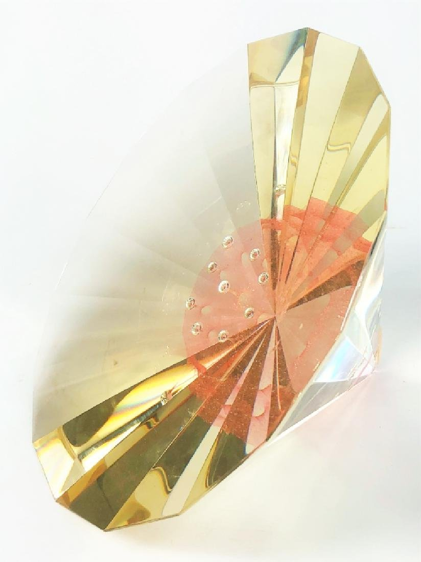 "Signed Jan Stohanzl ""Stargate"" Art Glass Prism - 5"