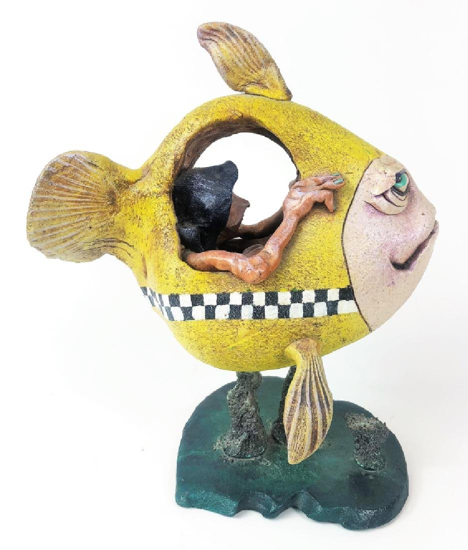 "Steven Smeltzer ""Water Taxi"" Ceramic Sculpture - 3"