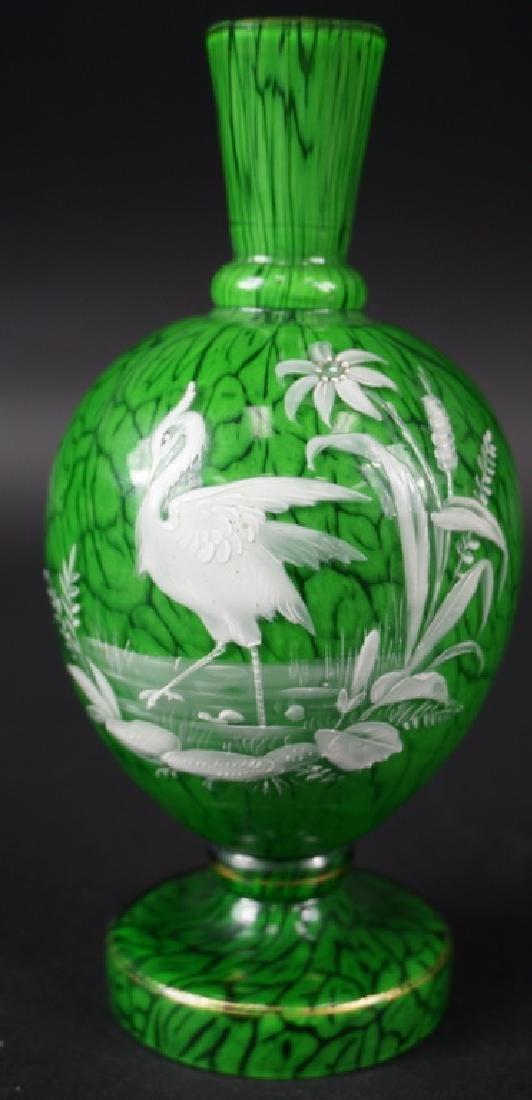 20th Century Enameled Art Glass Cabinet Vase