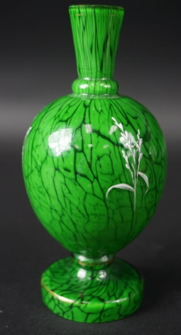 20th Century Enameled Art Glass Cabinet Vase - 2