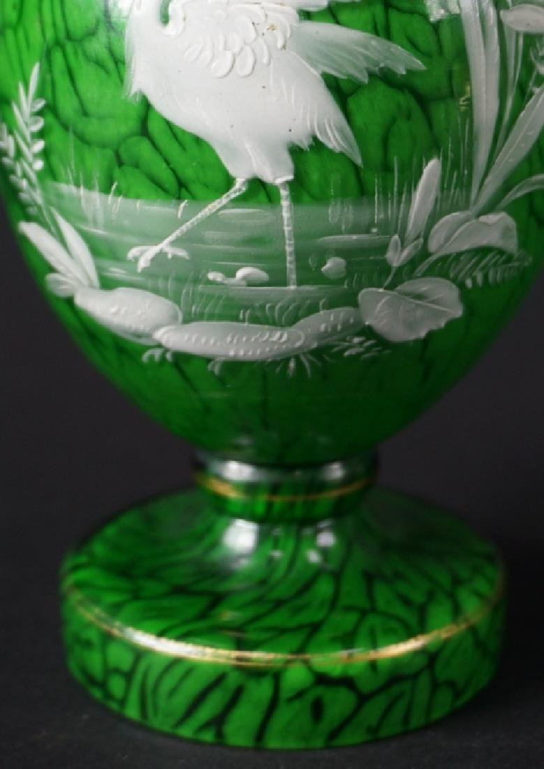 20th Century Enameled Art Glass Cabinet Vase - 5