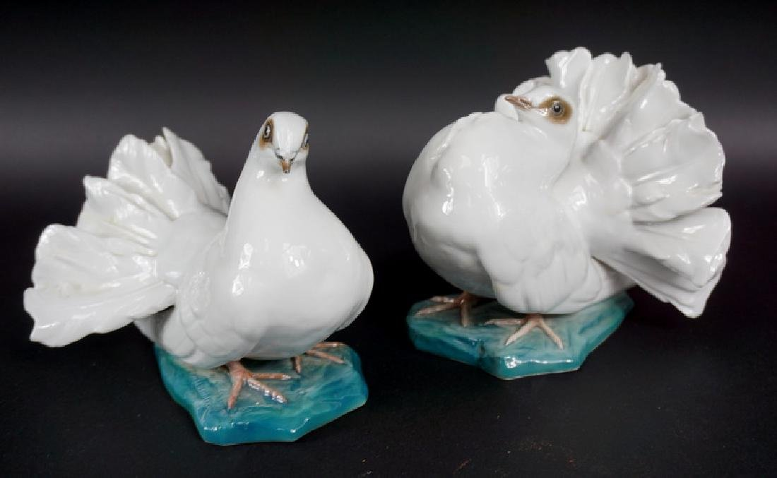Pair of Rosenthal German Porcelain Pigeon Figures