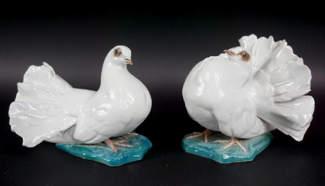 Pair of Rosenthal German Porcelain Pigeon Figures - 2