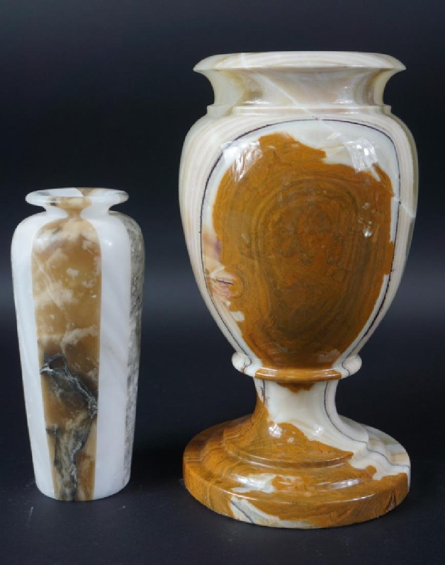 Lot of Two Beautiful Polished Marble Vases - 3