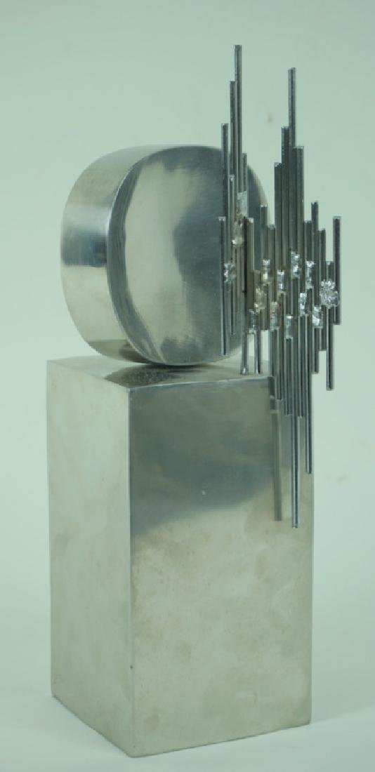 Signed L/E Mid Century Modern Abstract Sculpture