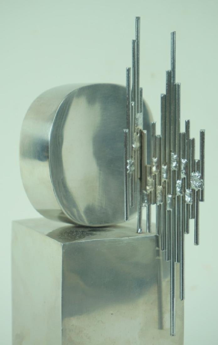 Signed L/E Mid Century Modern Abstract Sculpture - 2