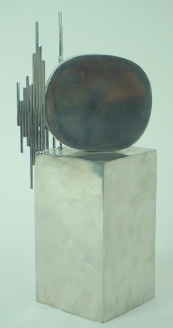 Signed L/E Mid Century Modern Abstract Sculpture - 3