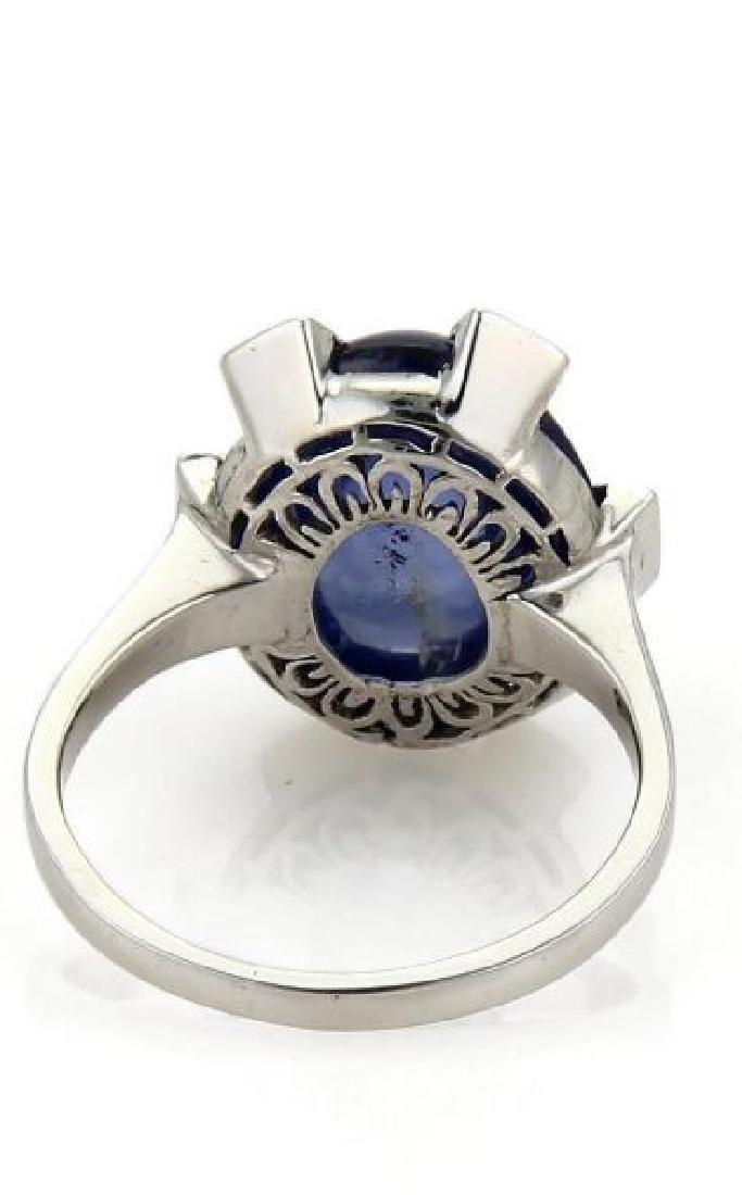 Vintage Sapphire & Rose Cut Diamond 14k Gold Ring - 3