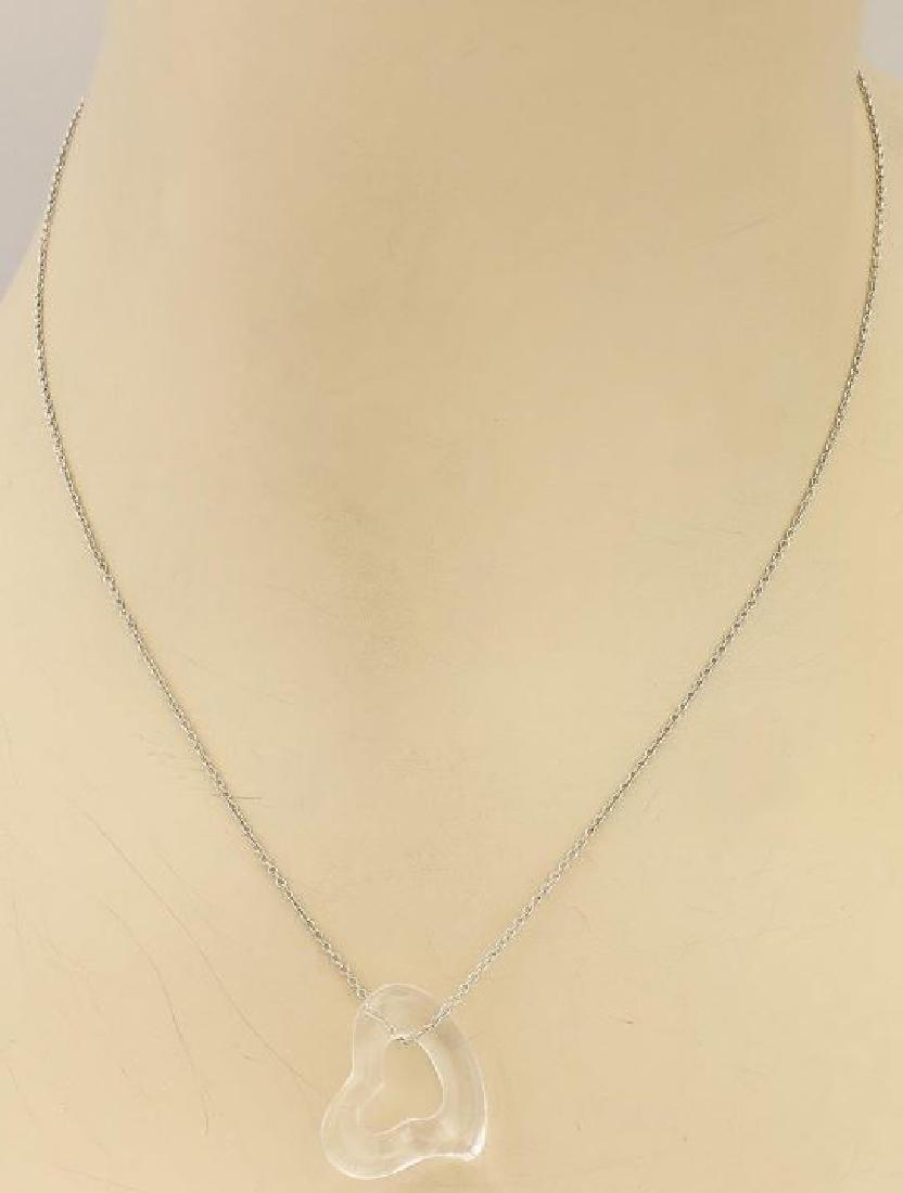 Tiffany & Co. Elsa Peretti Chain & Heart Necklace - 2