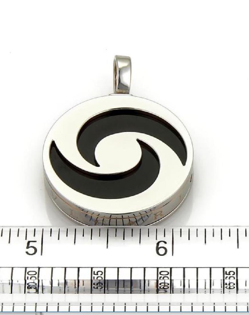 Bvlgari Optical Onyx 18k White Gold&Steel Pendant