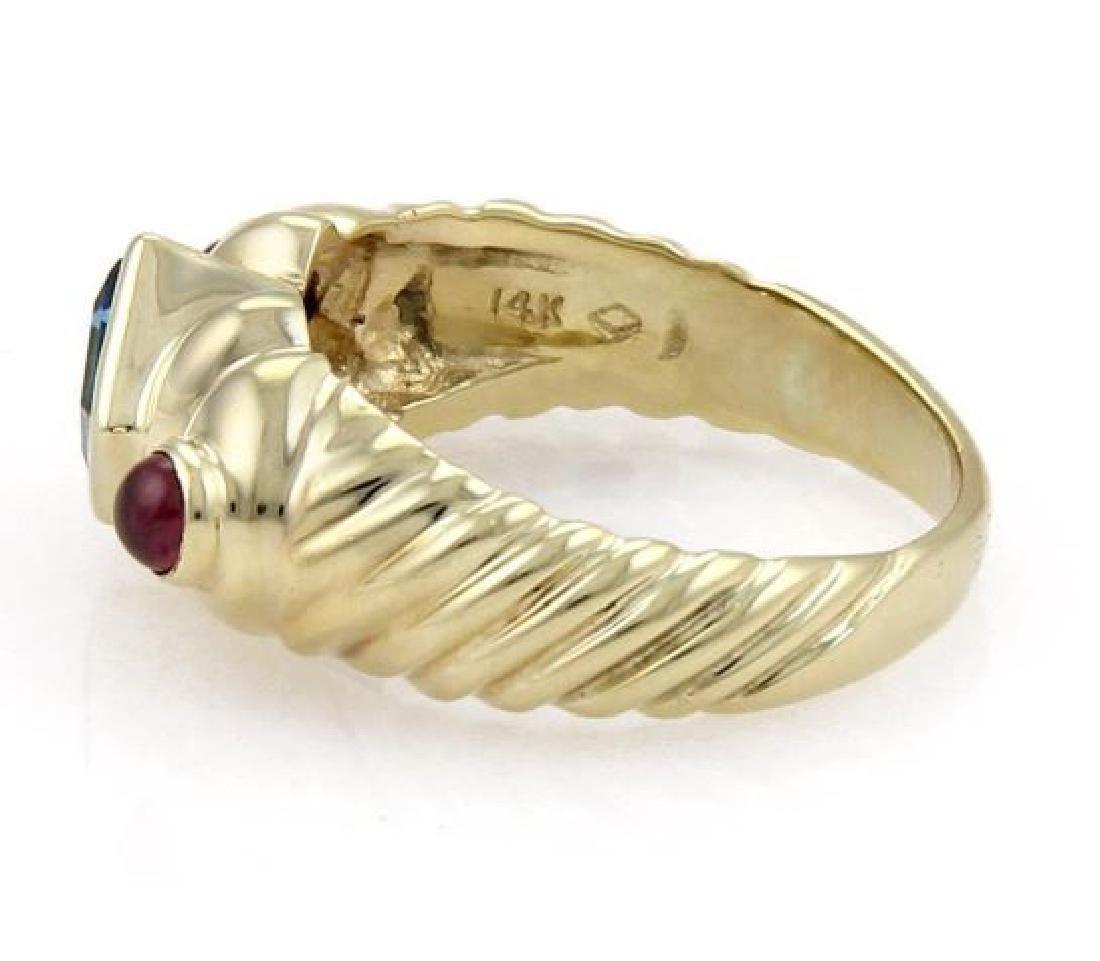 David Yurman Topaz Tourmaline 14k Gold Cable Ring - 2