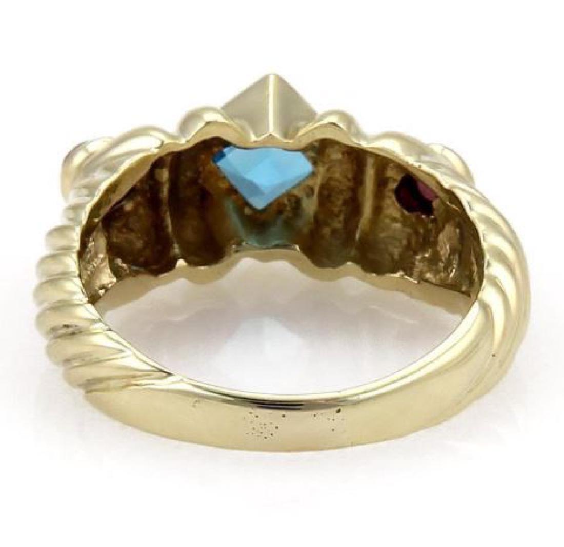 David Yurman Topaz Tourmaline 14k Gold Cable Ring - 3