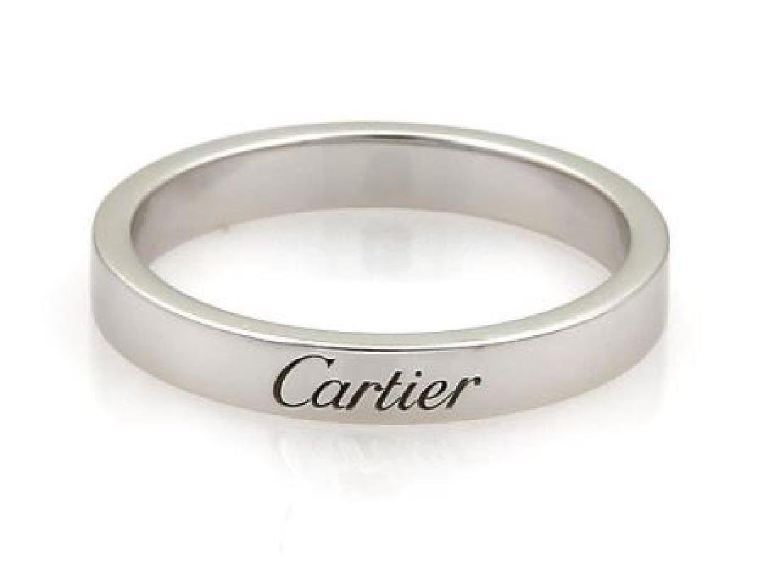 Cartier Signature Platinum 3mm Flat Wedding Band