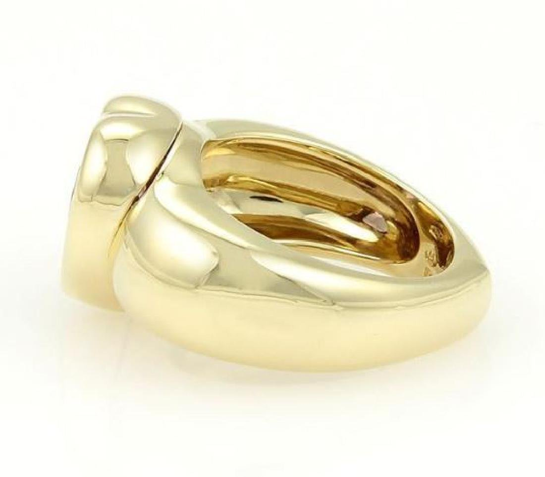 Piaget 18k Gold Heart Amethyst Gem Solitaire Ring - 2