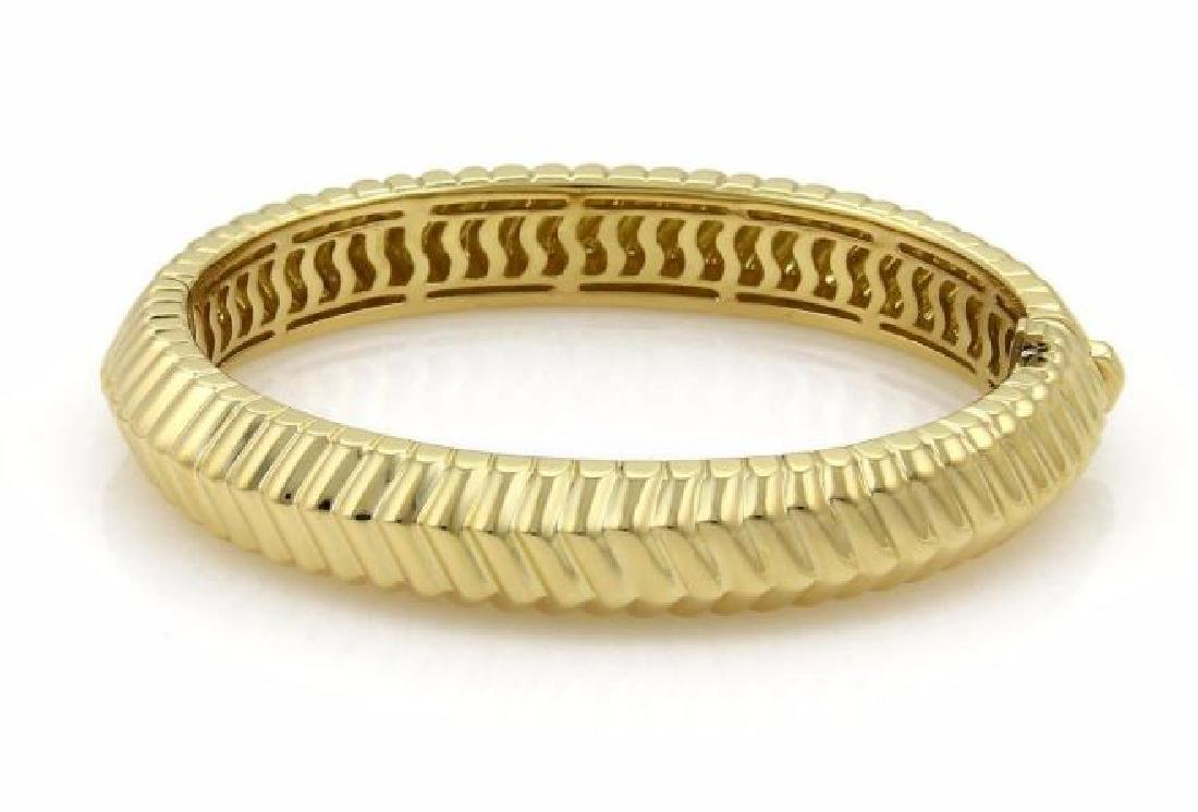 Tiffany&Co Cordis 18k Gold Grooved Bangle Bracelet