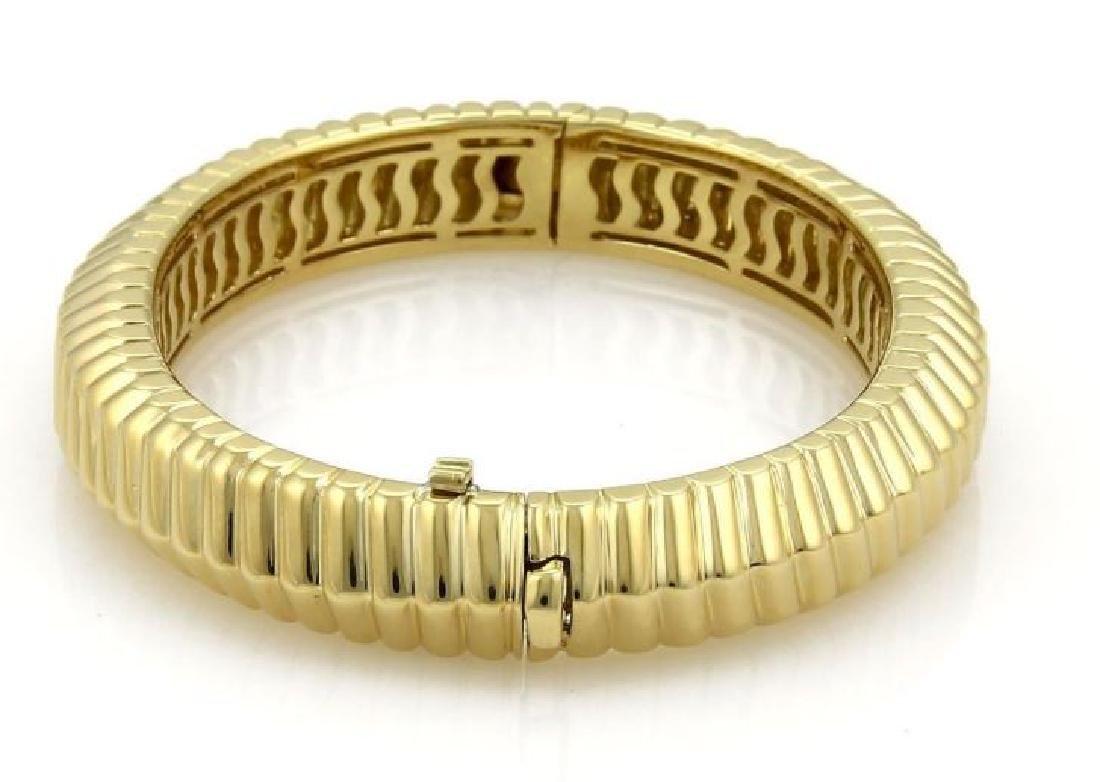 Tiffany&Co Cordis 18k Gold Grooved Bangle Bracelet - 2
